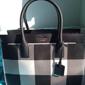 Kate Spade Plaid Candace Satchel Bag